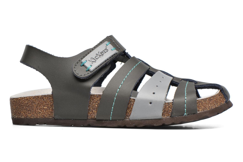 Sandales et nu-pieds Kickers Maginuevo Gris vue derrière