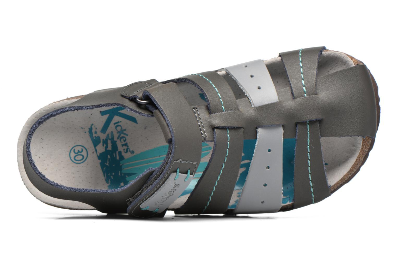 Sandales et nu-pieds Kickers Maginuevo Gris vue gauche