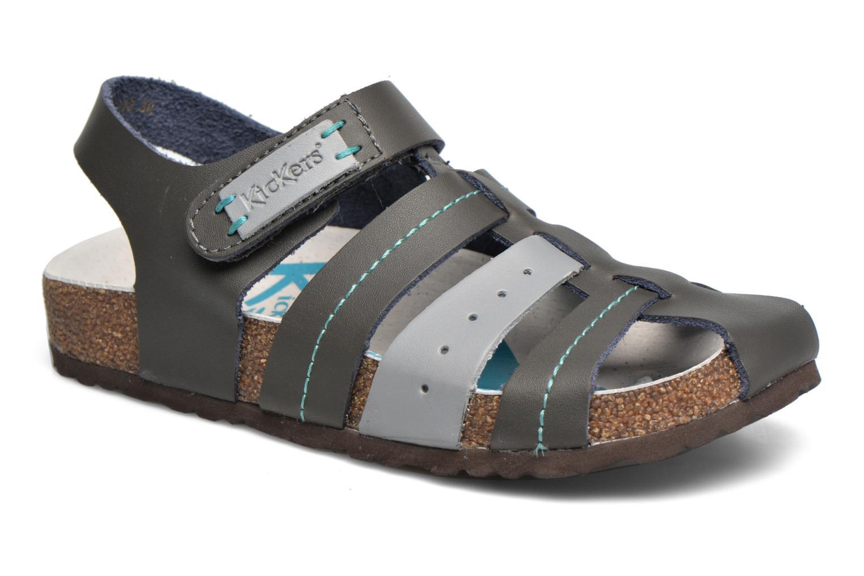 Sandales et nu-pieds Kickers Maginuevo Gris vue détail/paire