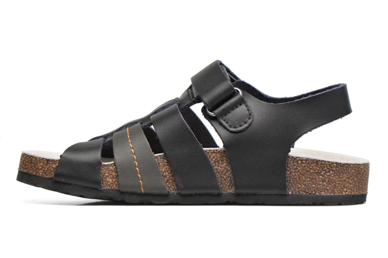 Sandales et nu-pieds Kickers Magiteam Noir vue face