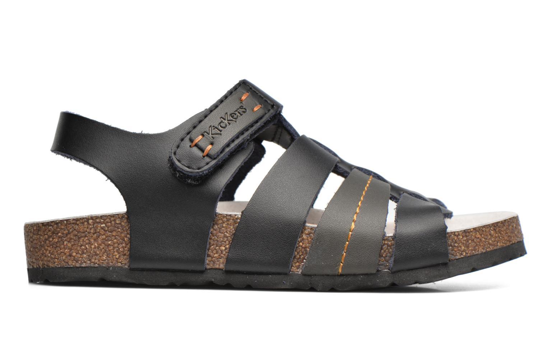 Sandales et nu-pieds Kickers Magiteam Noir vue derrière