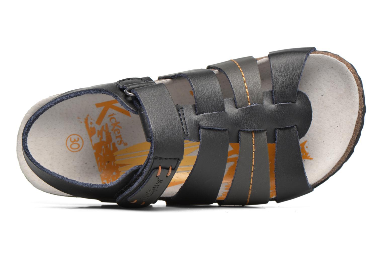 Sandales et nu-pieds Kickers Magiteam Noir vue gauche