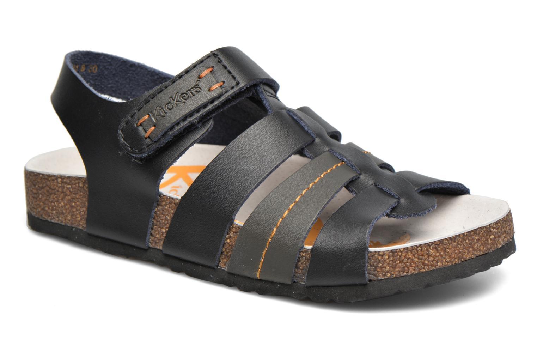 Sandales et nu-pieds Kickers Magiteam Noir vue détail/paire