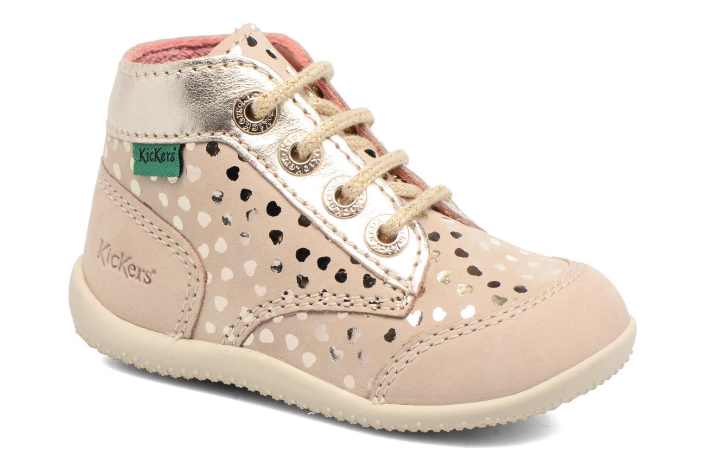 Chaussures à lacets Kickers Boetik Beige vue détail/paire