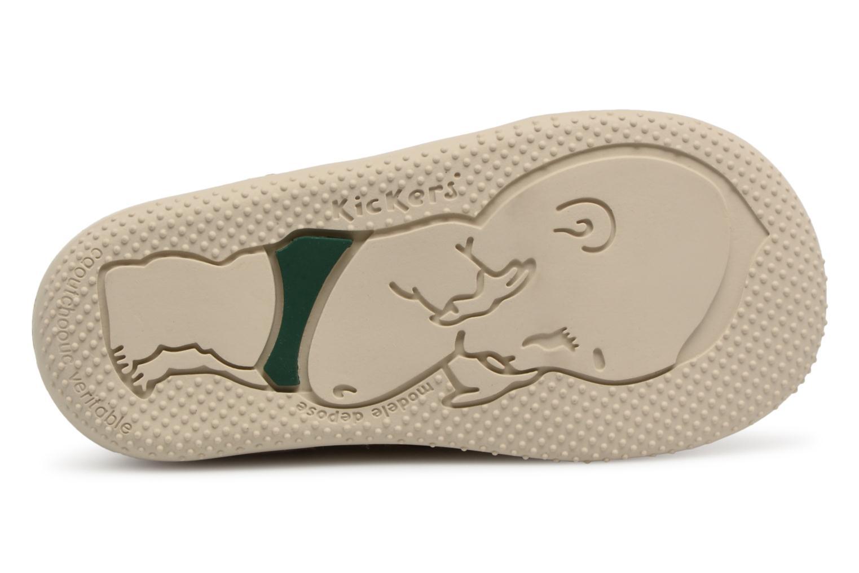 Chaussures à lacets Kickers Boetik Beige vue haut