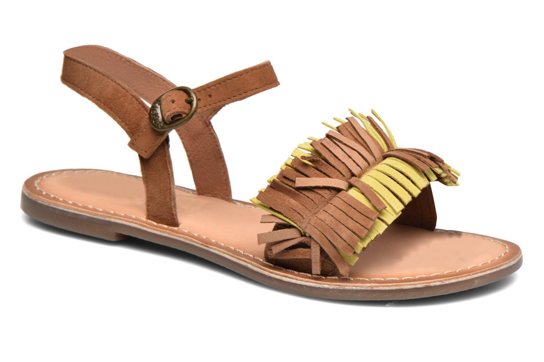 Sandales et nu-pieds Kickers Dixfroufrou Kid Marron vue détail/paire