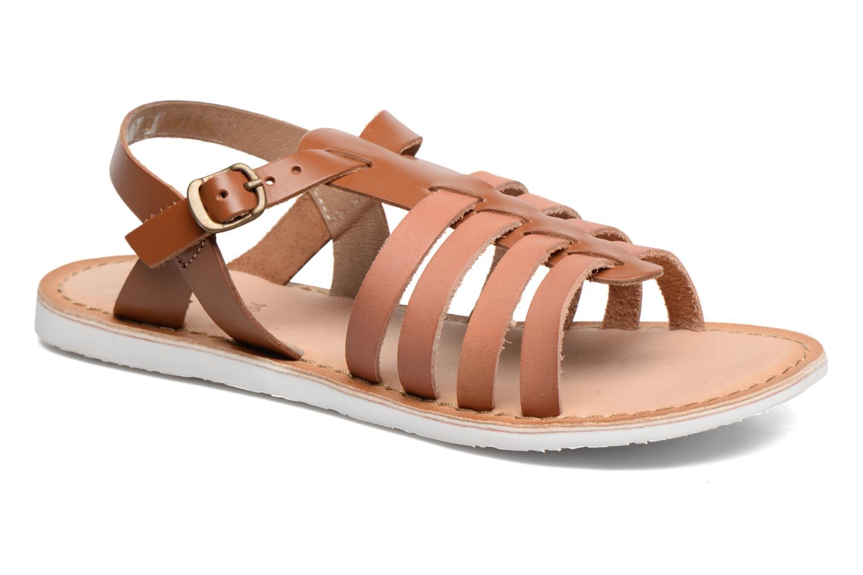 Sandaler Kickers Sparta Brun detaljeret billede af skoene