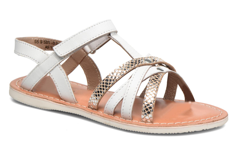 Sandales et nu-pieds Kickers Farah Blanc vue détail/paire