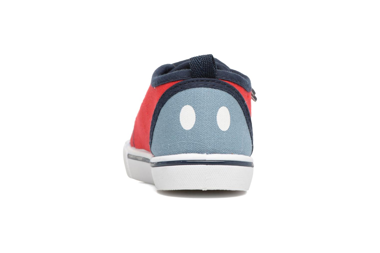 Baskets Mickey MICKEY Tim Rouge vue droite