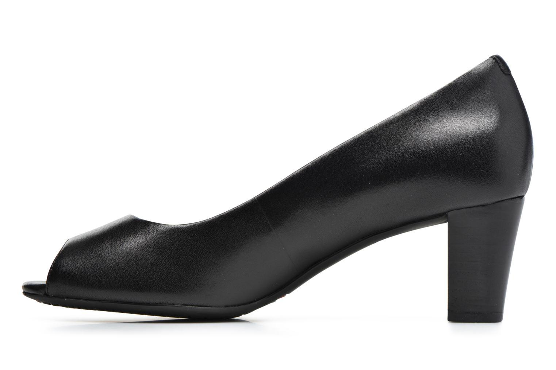 Zapatos de tacón Rockport Audrina Peep Negro vista de frente