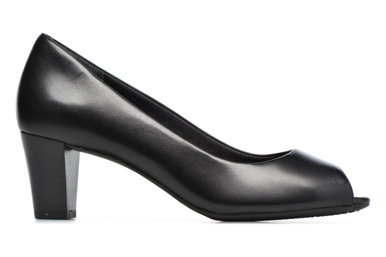 Zapatos de tacón Rockport Audrina Peep Negro vistra trasera