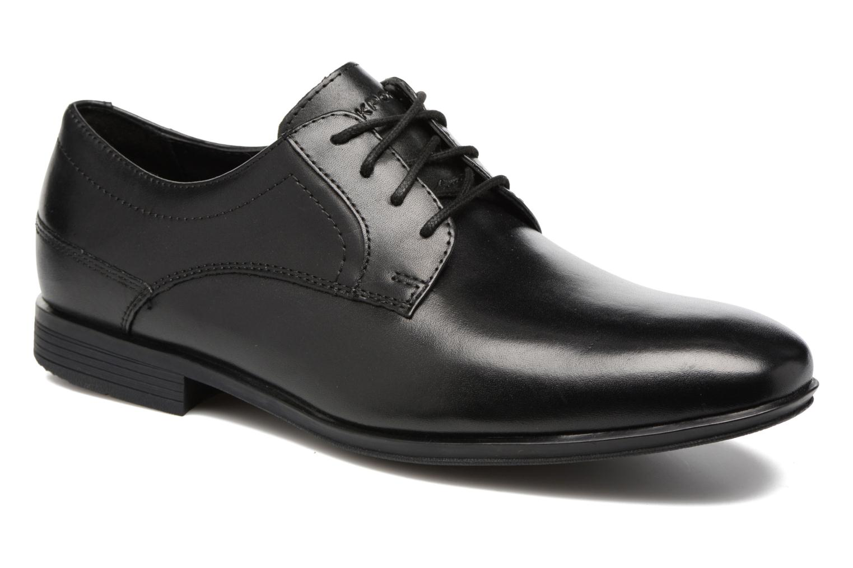 Chaussures à lacets Rockport Sc Plain Toe Noir vue détail/paire