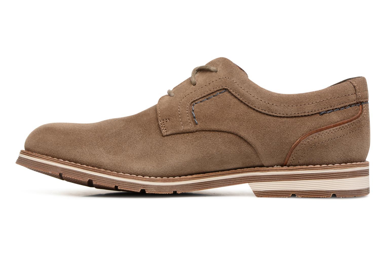 Chaussures à lacets Rockport Statford Plain Toe Marron vue face