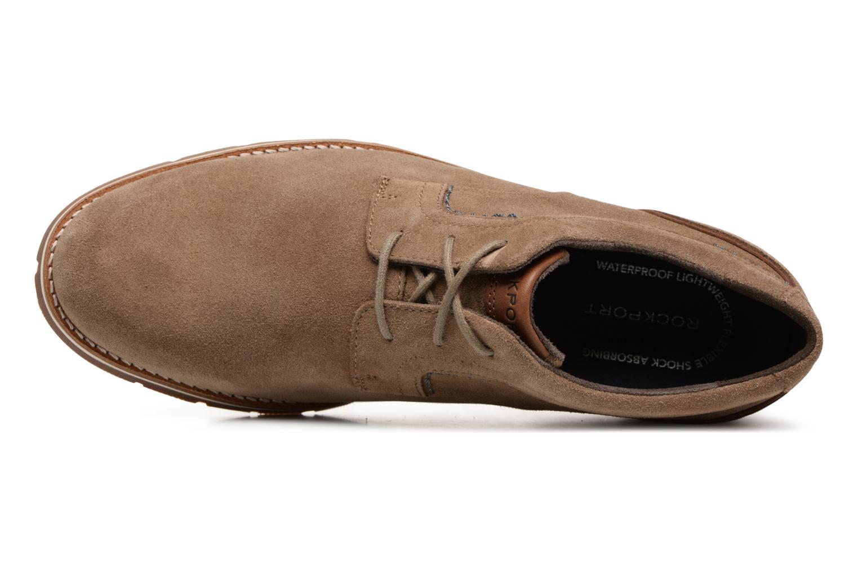 Chaussures à lacets Rockport Statford Plain Toe Marron vue gauche