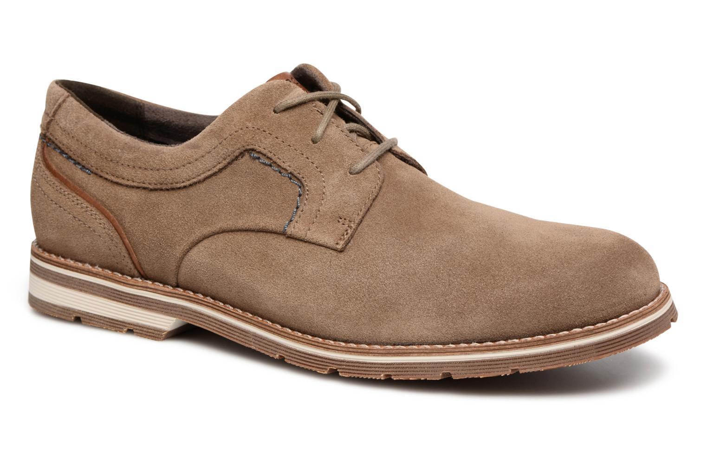 Chaussures à lacets Rockport Statford Plain Toe Marron vue détail/paire