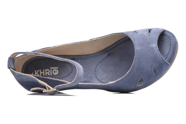 Sandales et nu-pieds Khrio Cylia Bleu vue gauche