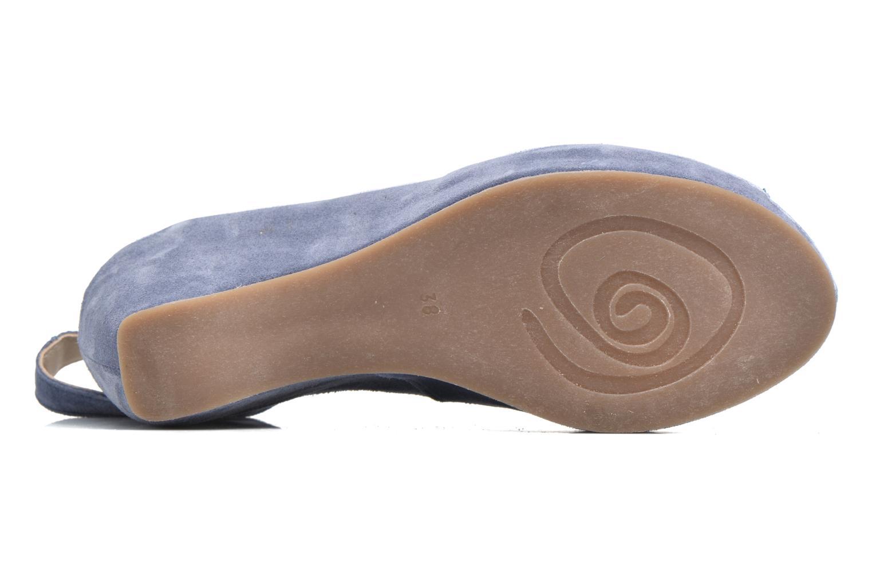 Sandales et nu-pieds Khrio Cylia Bleu vue haut