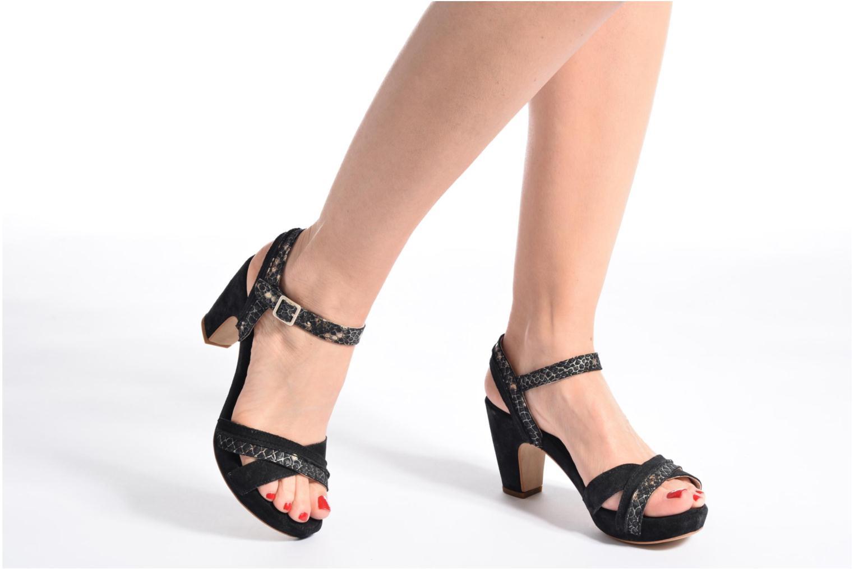 Sandales et nu-pieds Khrio Chrisly Noir vue bas / vue portée sac