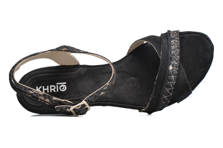 Sandales et nu-pieds Khrio Chrisly Noir vue gauche