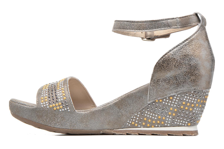 Sandales et nu-pieds Khrio Maika Gris vue face