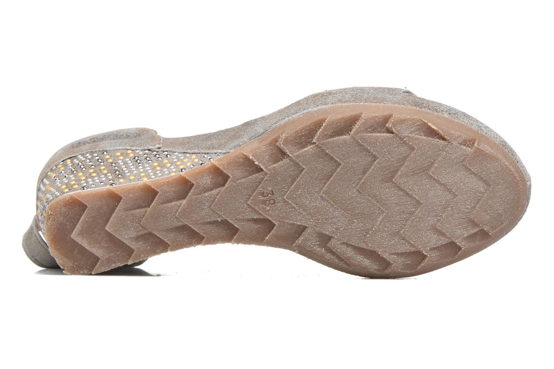 Sandales et nu-pieds Khrio Maika Gris vue haut