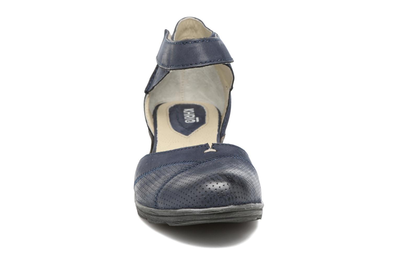Sandales et nu-pieds Khrio Parissa Bleu vue portées chaussures