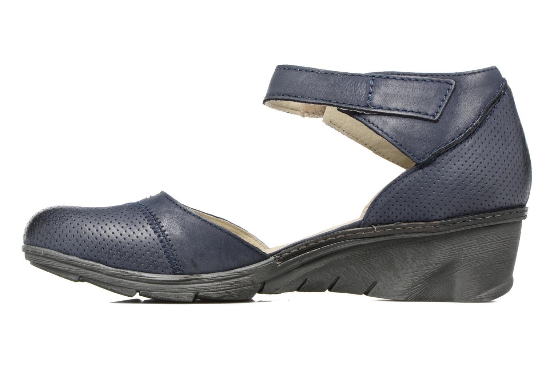 Sandales et nu-pieds Khrio Parissa Bleu vue face