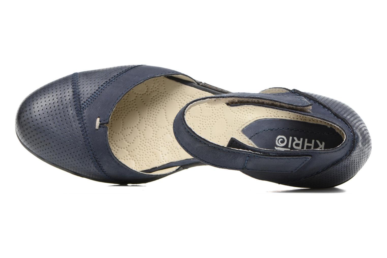 Sandales et nu-pieds Khrio Parissa Bleu vue gauche