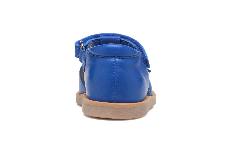 Sandalen Pom d Api Poppy Easy Blauw rechts