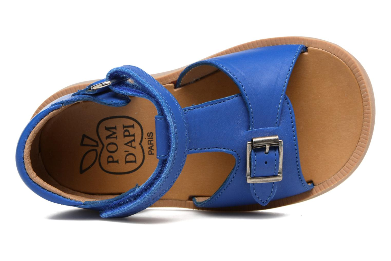Sandalen Pom d Api Poppy Easy Blauw links