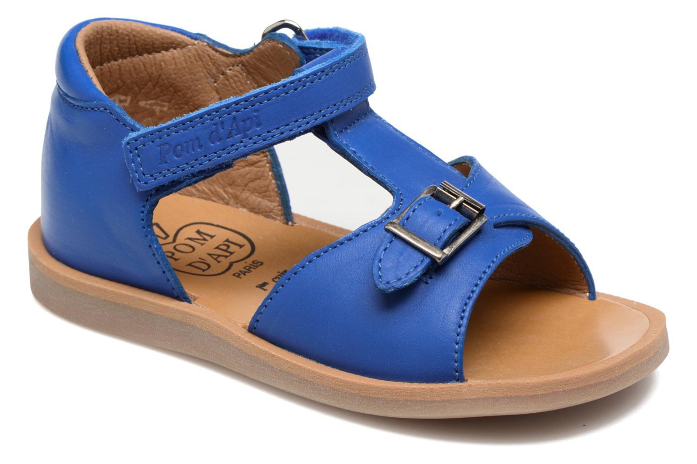 Sandalen Pom d Api Poppy Easy Blauw detail