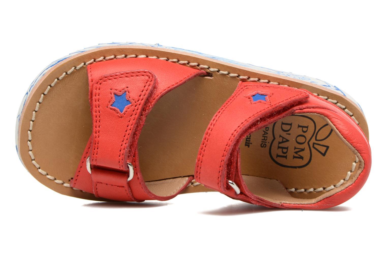 Sandali e scarpe aperte Pom d Api Waff Kastro Rosso immagine sinistra