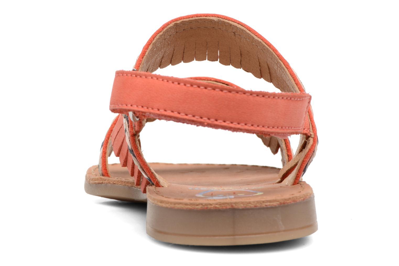 Sandales et nu-pieds Shoo Pom Happy Inca Orange vue droite