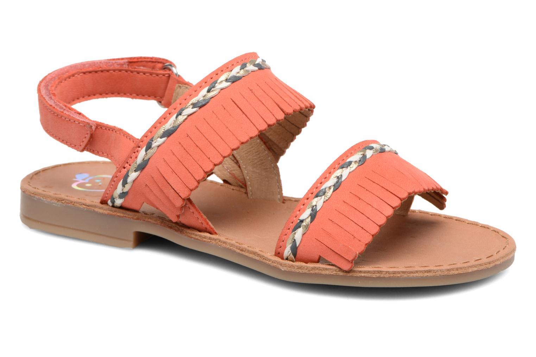 Sandales et nu-pieds Shoo Pom Happy Inca Orange vue détail/paire