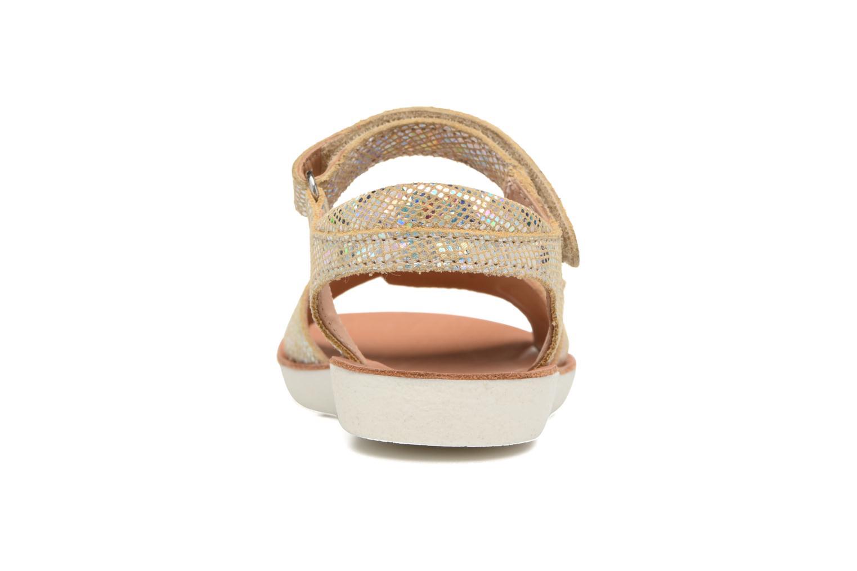 Sandali e scarpe aperte Shoo Pom Goa Sandal Girl Oro e bronzo immagine destra