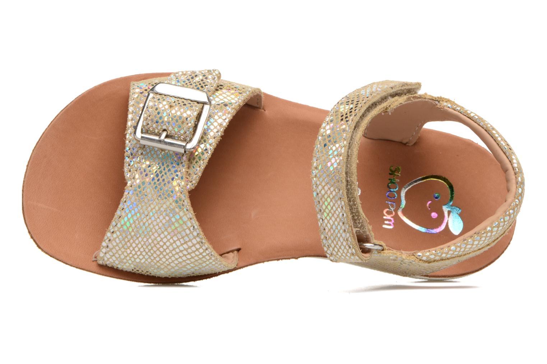 Sandali e scarpe aperte Shoo Pom Goa Sandal Girl Oro e bronzo immagine sinistra