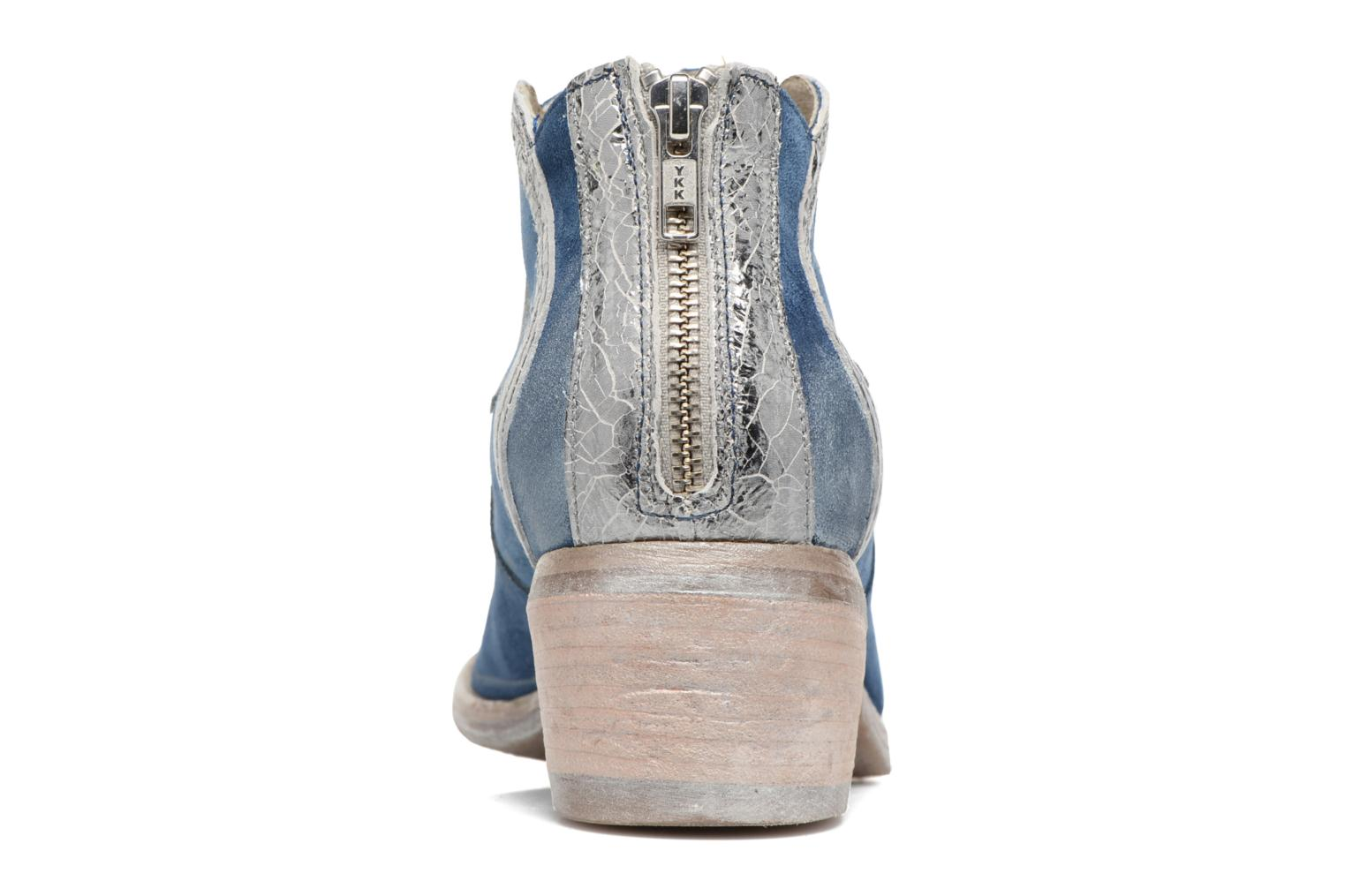 Ankle boots Khrio Giorgia Blue view from the right