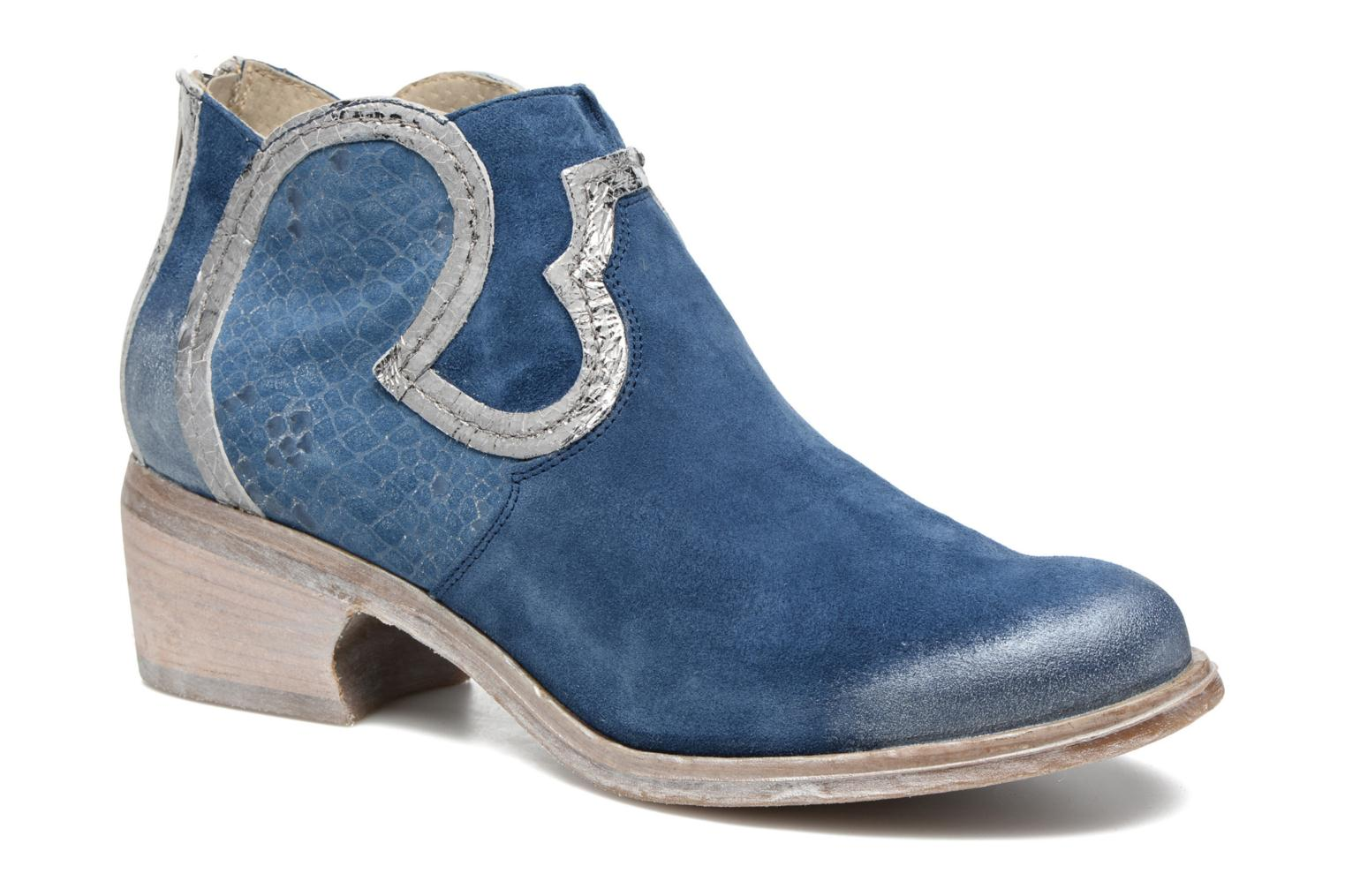 Ankle boots Khrio Giorgia Blue detailed view/ Pair view
