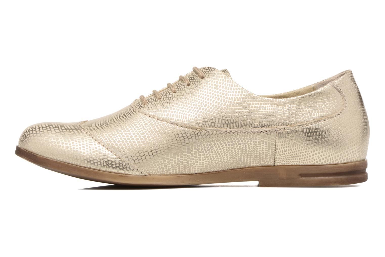 Zapatos con cordones Khrio Aitana Oro y bronce vista de frente