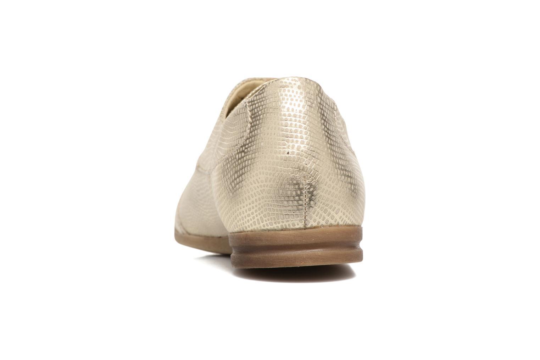 Zapatos con cordones Khrio Aitana Oro y bronce vista lateral derecha