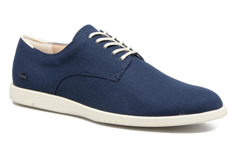 Chaussures à lacets Lacoste Laccord 217 1 Bleu vue détail/paire