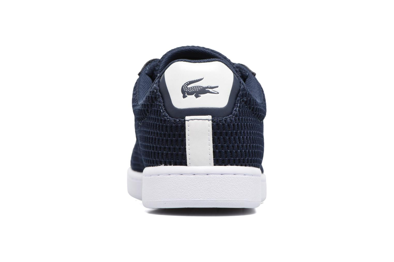 Baskets Lacoste Carnaby Evo 217 1 W Bleu vue droite