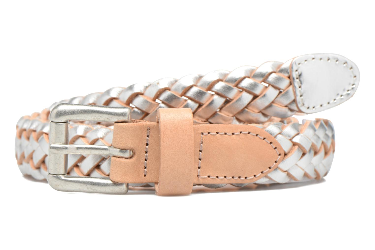 Lille Braided Leather Jeans Belt Silver