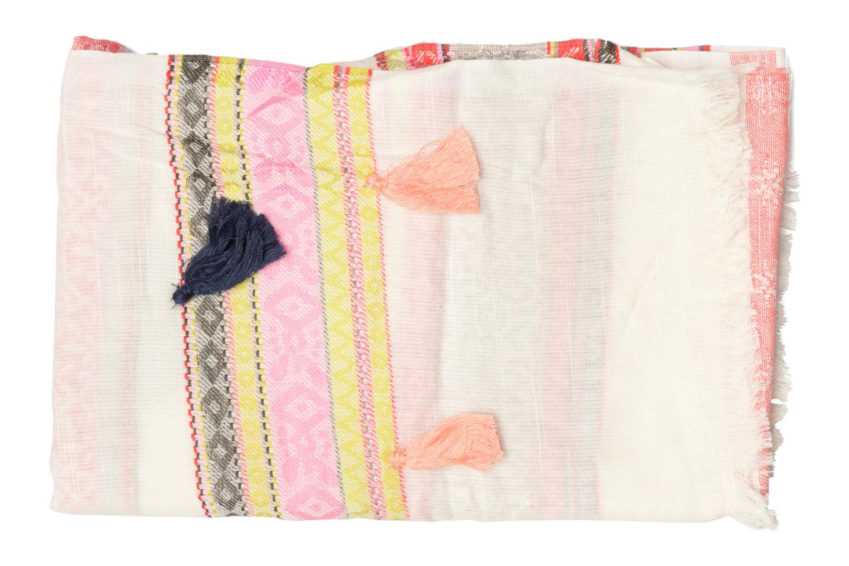 Altro Pieces Lisa Long scarf Beige modello indossato