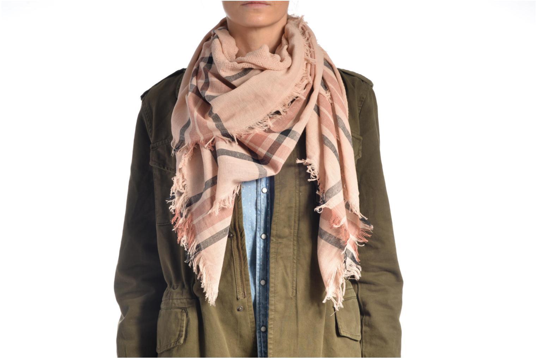 Larina Square scarf Navy Blazer