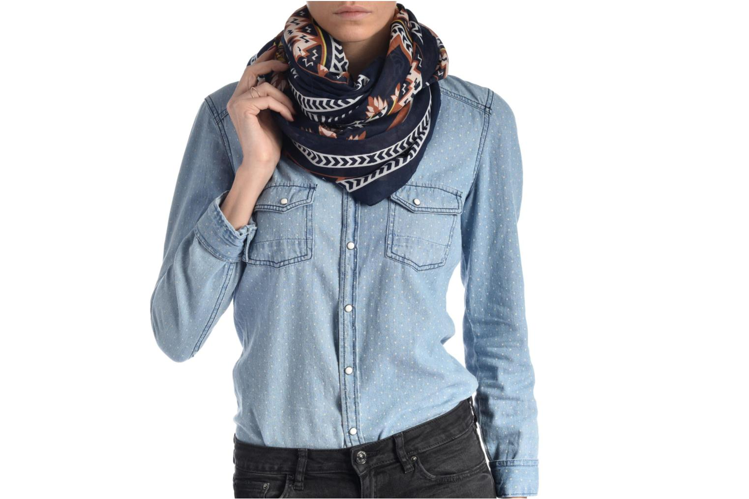 Divers Pieces Laura Tube Scarf Bleu vue haut