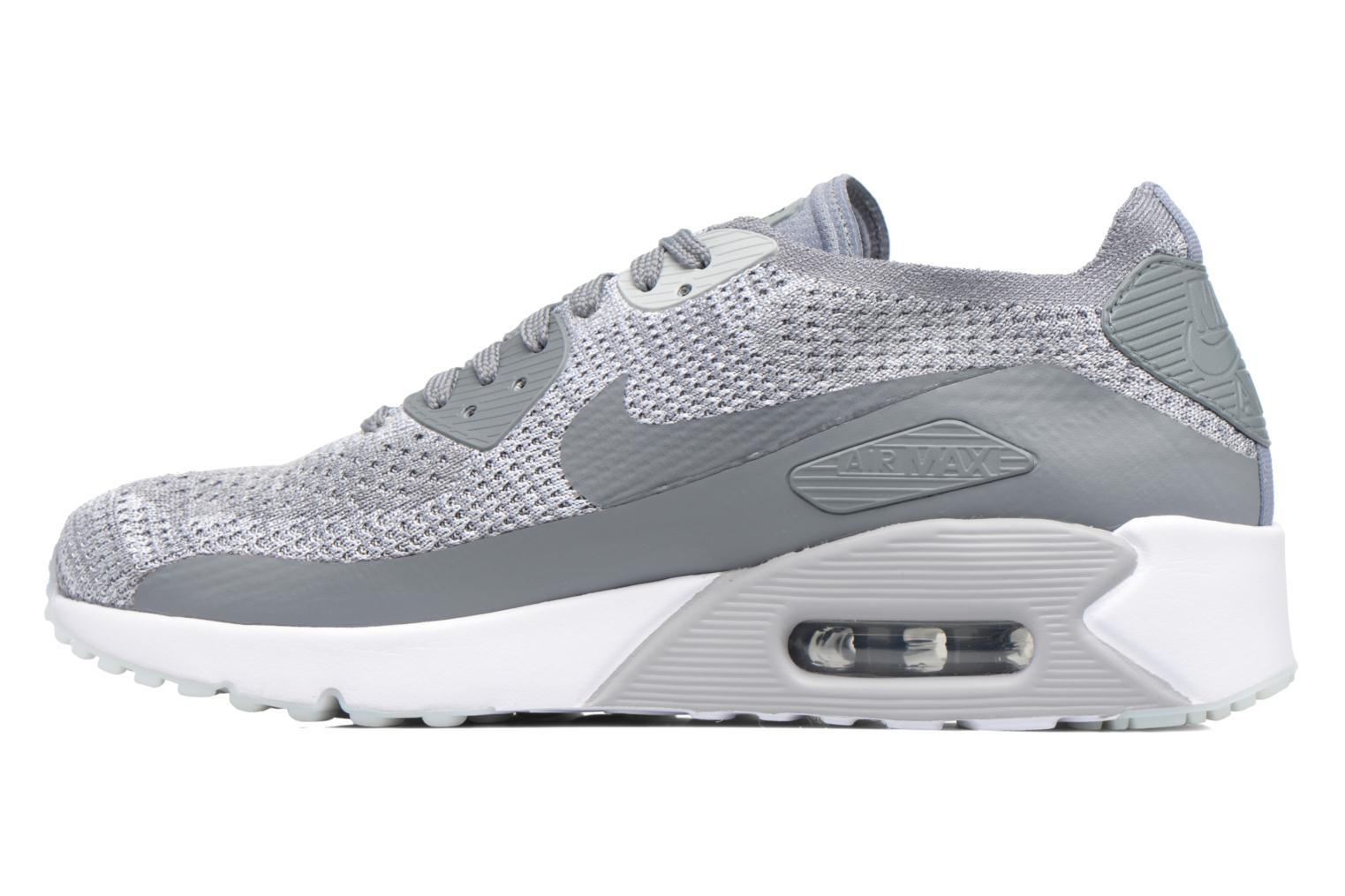 Baskets Nike Air Max 90 Ultra 2.0 Flyknit Gris vue face