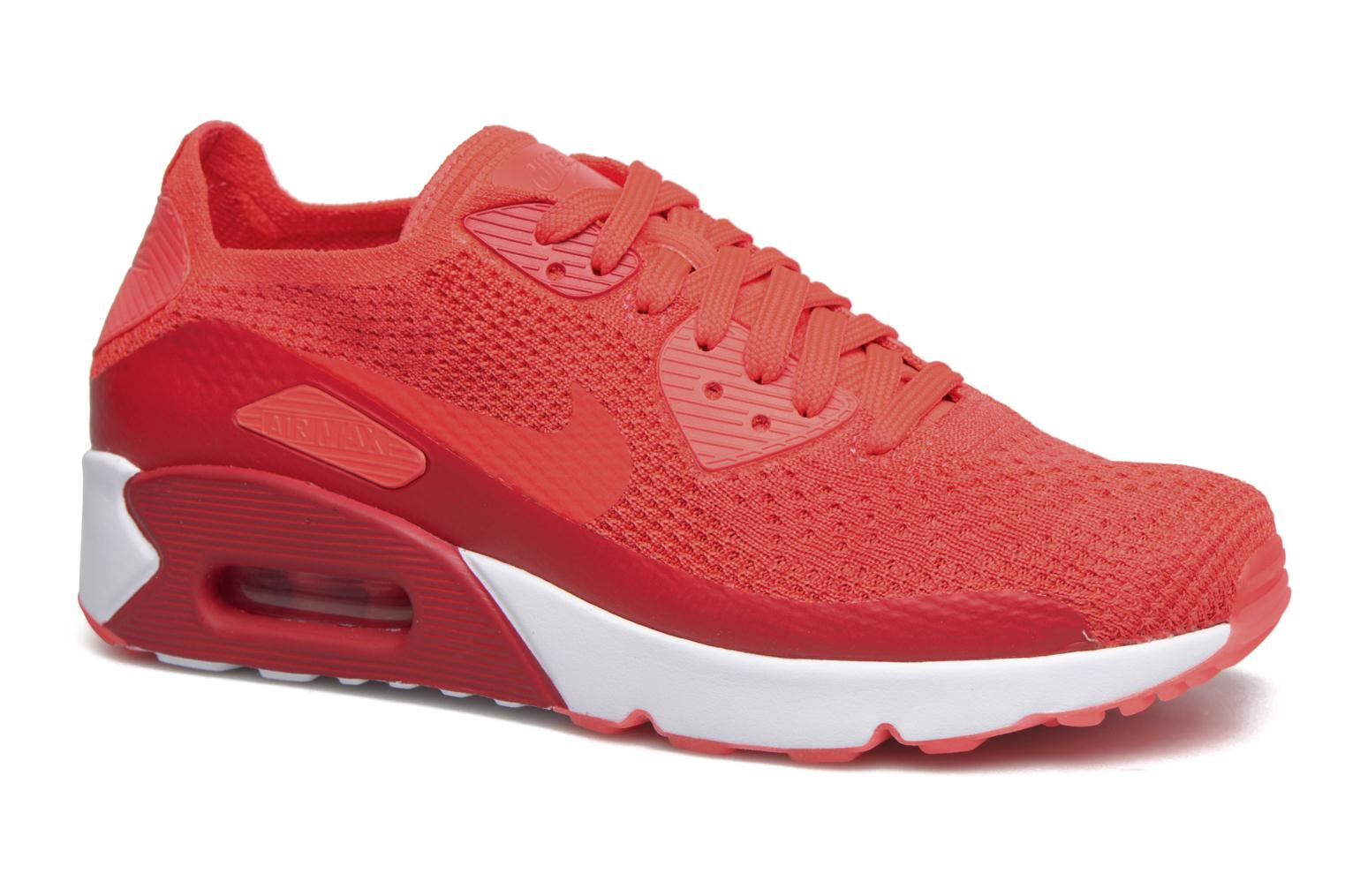 Baskets Nike Air Max 90 Ultra 2.0 Flyknit Rouge vue détail/paire