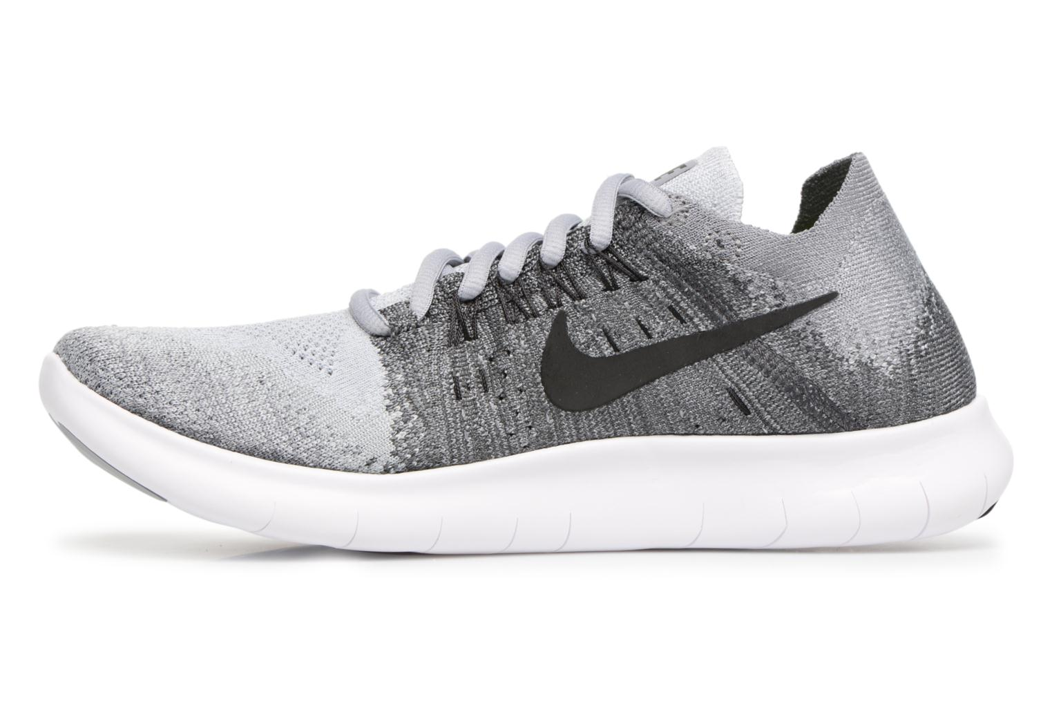 Sport shoes Nike Wmns Nike free Rn Flyknit 2017 Grey front view