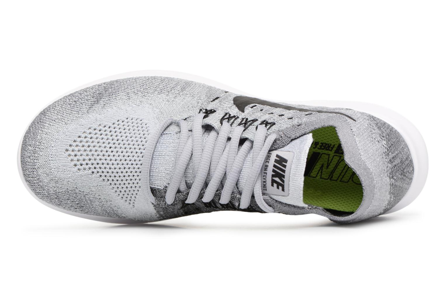 Sport shoes Nike Wmns Nike free Rn Flyknit 2017 Grey view from the left